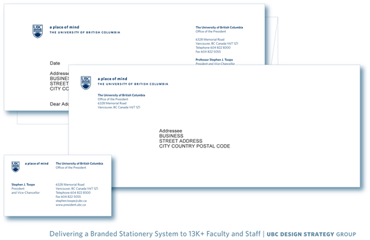 UBC stationery