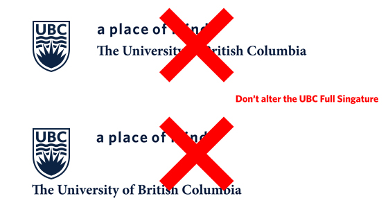 UBC Signature Dos and Don'ts